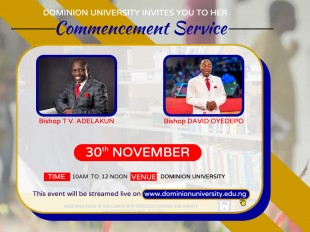 Dominion University  Commencement service