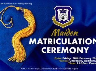 Dominion University holds it's Maiden Matriculation Ceremony
