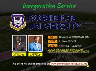 Dominion University Inauguration Service